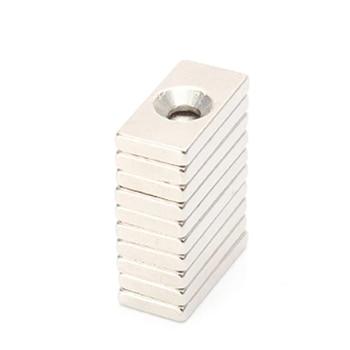 цена на 5/10/20/50pcs/lot Magnet 20x10x3 mm hole 4mm N35 Strong Square NdFeB Magnet 20*10*3 mm Neodymium Magnet 20mm x 10mm x 3mm-4mm