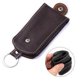 Чехол-держатель из натуральной кожи для автомобильных ключей, женская ключница, органайзер для автомобильных ключей, держатель для ключей, ...