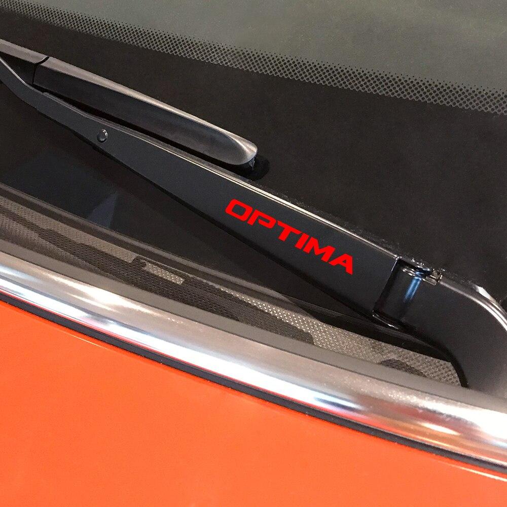 4PCS Car Window Wiper Stickers For Kia Optima Reflective Graphic Vinyl Trim Waterproof Car Stickers And Decals Auto Accessories