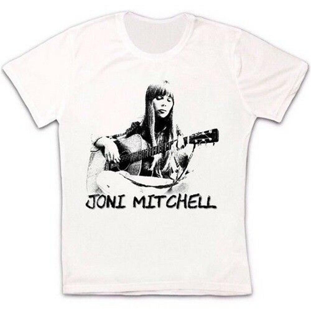 Joni Mitchell Womans Flexible Short Sleeve Tee