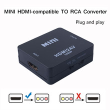 AV/CVSB L/R Video Box HDMI-kompatibel zu RCA Converter HD 1080P 1920*1080 60Hz HDMI2AV Unterstützung NTSC PAL Ausgang