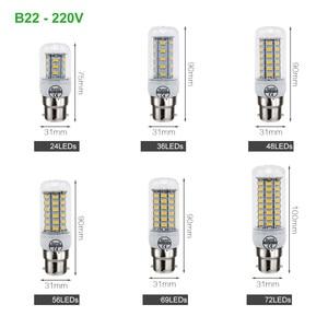 Image 5 - ANBLUB lumière lampe à LED E27 E14 B22 G9 GU10, 220V SMD, 5730, projecteur lustre, 24 36 48 56 69 72LED, ampoule en maïs pour la décoration de la maison