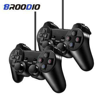 цена на Wired Controller Gamepad For Sony PS2 Playstation 2 Console Game Joystick For PS2 Dual Shock Vibration Dual Shock Wired Controle