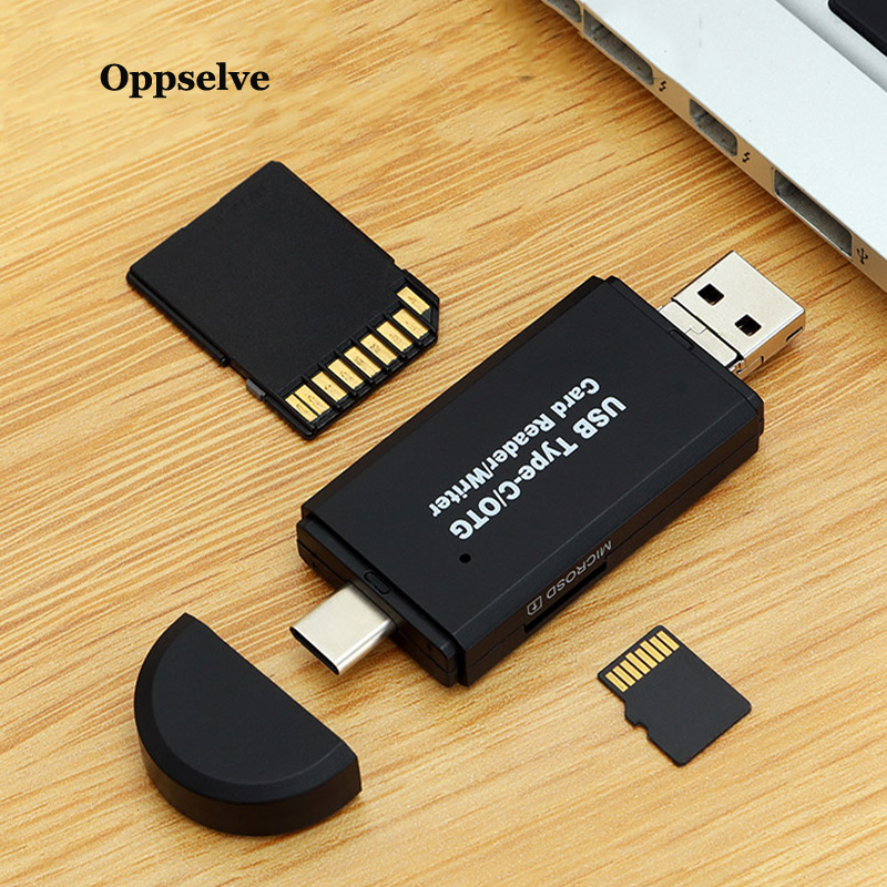 SD Card Reader USB 2.0 Card Reader Micro TF SD Reader Smart Memory Card Adapter Type C Cardreader Micro OTG Adapter For Laptop