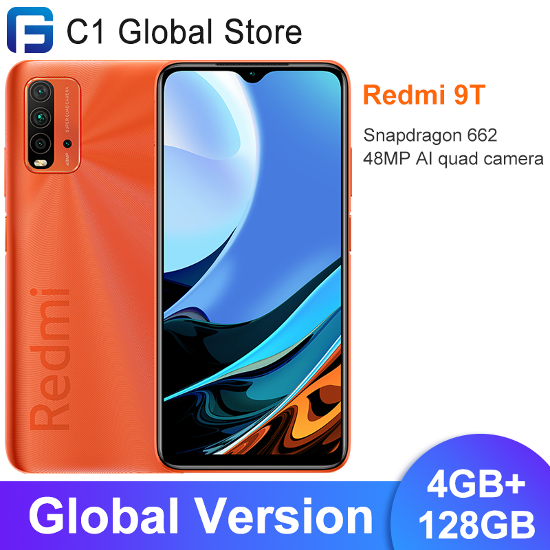 Version mondiale Xiaomi Redmi 9 T 9 T Smartphone 4 go RAM 128 go ROM Snapdragon 662 Bluetooth 5.0 48MP AI quad caméra 6000mAh   AliExpress