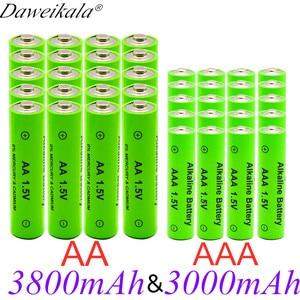 New 1.5v AA 3800 mAh+1.5vAAA 3000 mAh Alkaline1.5V Rechargeable Battery For Clock Toys Camera battery