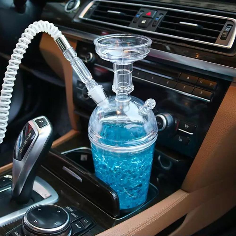 Hot Sale Retail Sheesha Plastic Portable LED Light Travel Car Use Hookah Shisha Cup
