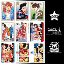 цены 9pcs/set Slamdunk Hanamichi Sakuragi Goku Jiren Rukawa Kaede Action Smile Figures Commemorative Edition Collection Cards