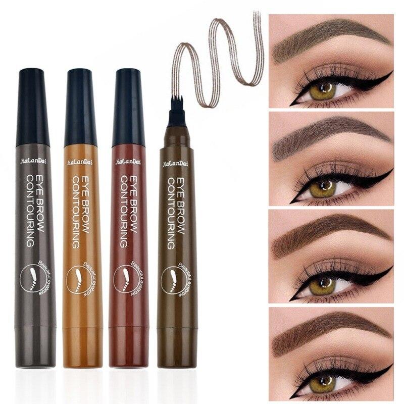 4-tips Eyebrow Pen Long-lasting Waterproof Smudge-proof Eyebrow Tattoo Pen Eyebrow Enhancers thumbnail