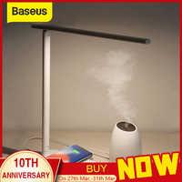 Baseus lâmpada qi carregador sem fio para iphone xs max x dobrável mesa de mesa luz led rápido sem fio almofada carregamento para samsung