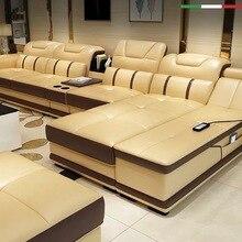 Foshan напрямую с фабрики продажи кожаный современный кожаный диван, кожаный секционный диван