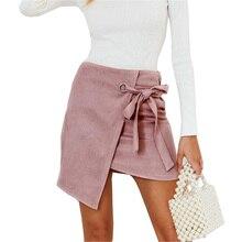 Mini-Skirt Short Streetwear Side-Split High-Waist Women INDJXND Hip-Bow Zipper Slim Female