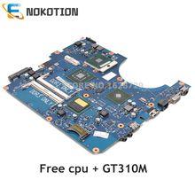 NOKOTION עבור Samsung NP R530 R530 מחשב נייד האם BA92 06345A BA92 06345B Mainboard GT310M GPU משלוח מעבד