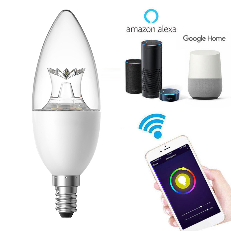 Smart Life WIFI LED Bulb LED 6W Dimmable Light Phone Remote Control Compatible With Alexa Google Home Decor Voice Control Bulb