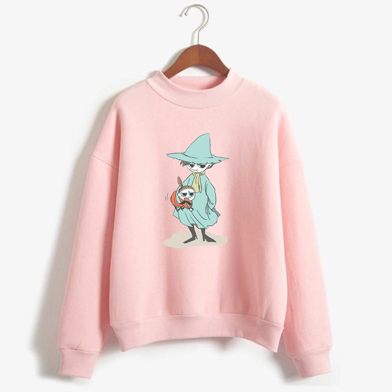 Moomins Day Letter Print Pullover Graphic Winter Long Sleeve Hoodie Women Funny Sweatshirt Female Harajuku Fashion Tops Clothing