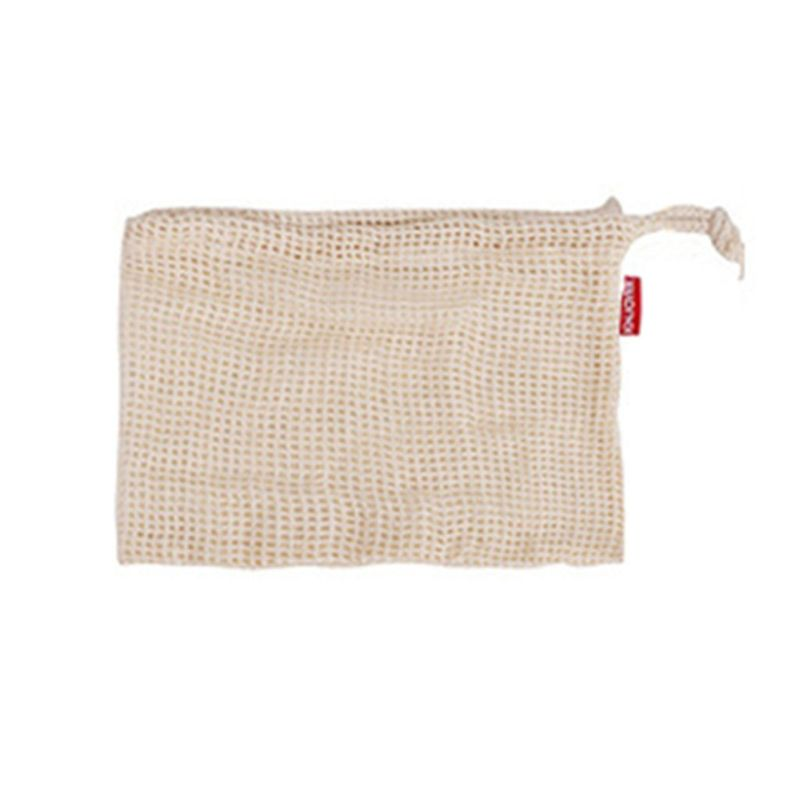 Reusable Cotton Mesh Drawstring Washable Fruit & Vegetable Storage Bags Pouch X4YB