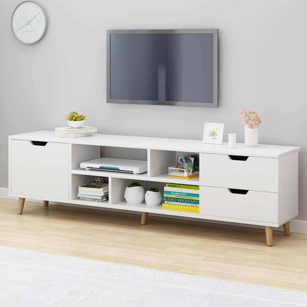 Modern Coffee Table Television Stands Living Room TV Stand With TV Three Cabinet Wooden Living Room Furniture Table#US6
