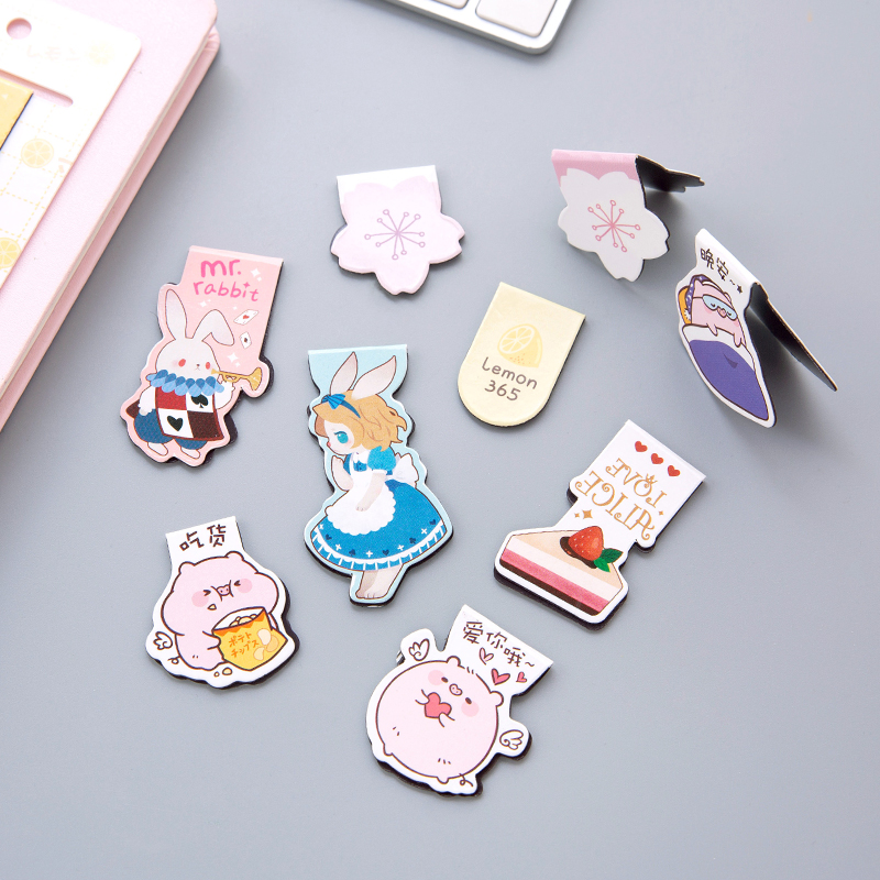 Lovely Creative Cartoon Magnetic Bookmarks Books Marker Of Page Student Stationery Multiple Patterns Choose School Office Supply
