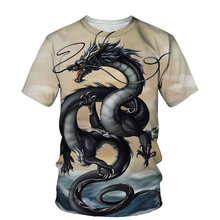 Oriental Dragon 3D Print Men T-shirt 2021 Summer O Neck Short Sleeve Tees Tops Chinese Style Male Clothes Fashion Casual T-shirt
