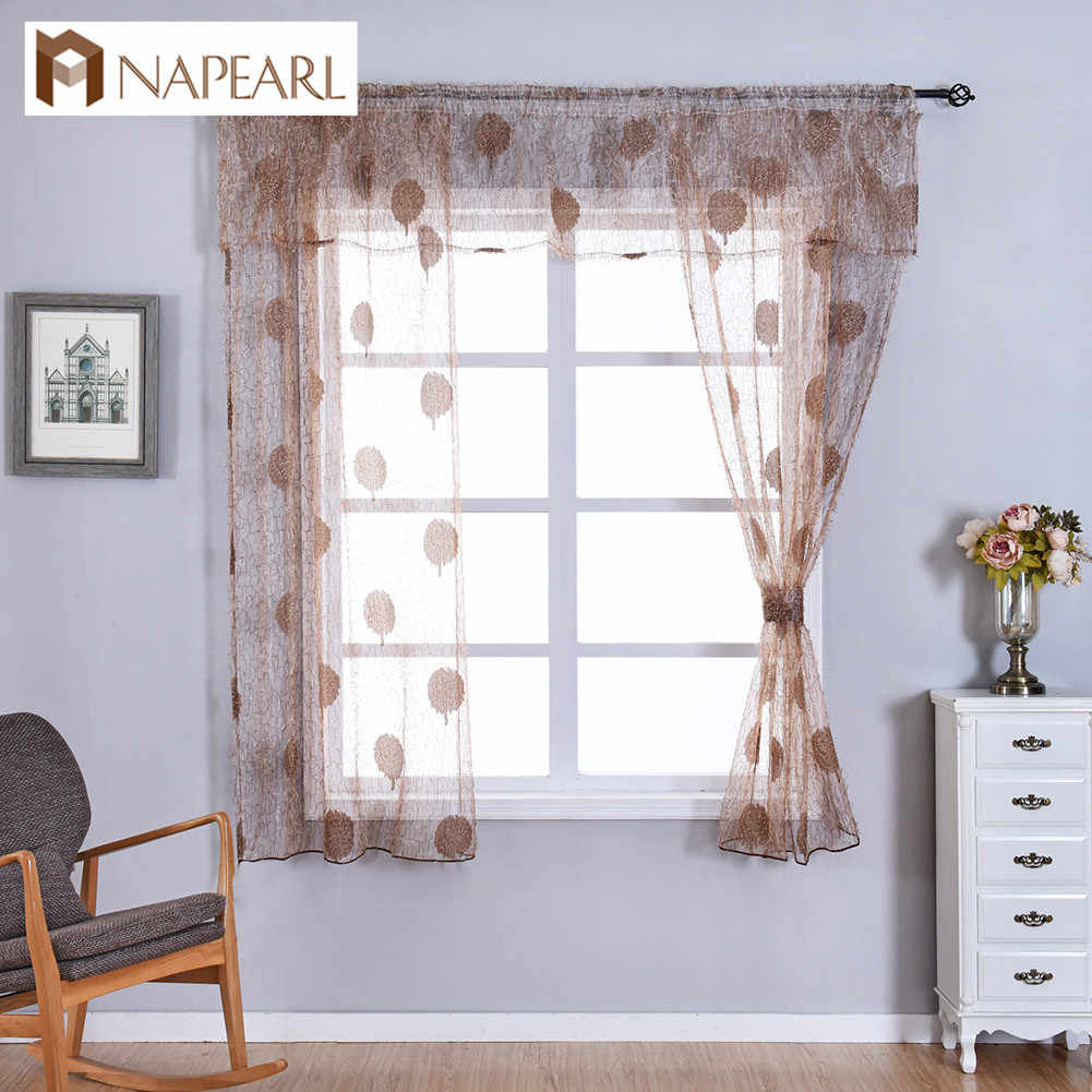 Napearl Transparent Classic Tulle Window Valance And Tiers Kitchen