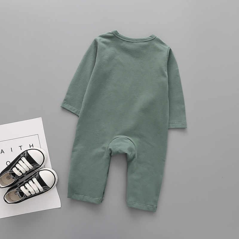 Одежда боди для новорожденных мальчиков Осенний комбинезон с длинными рукавами и рисунком животных, милая одежда для малышей боди для маленьких девочек возрастом от 3 до 24 месяцев