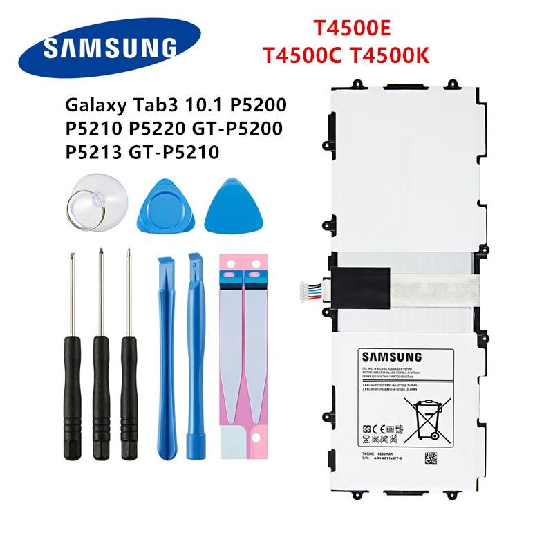 SAMSUNG Orginal Tablet T4500C T4500E T4500K Battery 6800mAh For Samsung Galaxy Tab3  P5200 P5210 P5220 P5213 Batteries +Tools