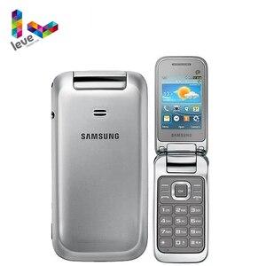Оригинальный разблокированный Восстановленный Мобильный телефон Samsung C3590 GT-C3595 Flip мобильный телефон 2,4