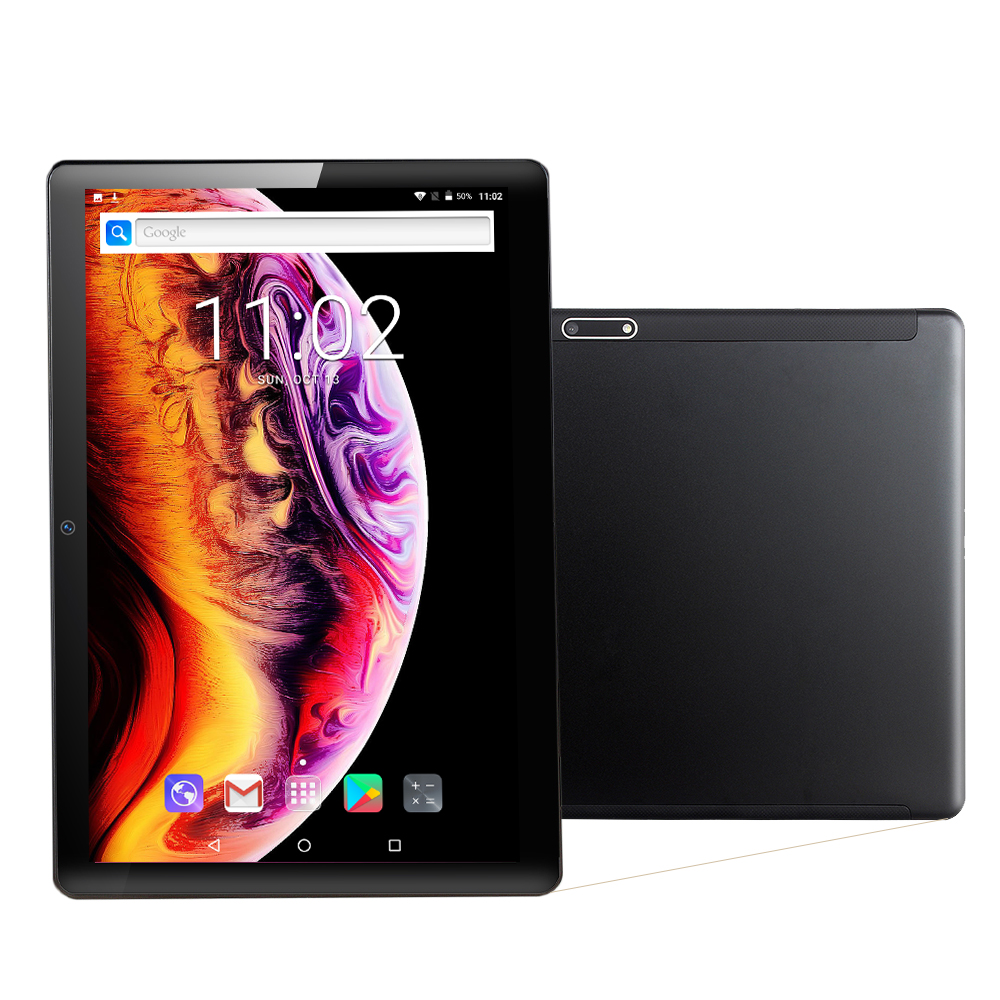 Tablet 6GB 128GB Octa Core Android 9.0 Tablet 10 Inch IPS Tempered Glass Phone Call 3G 4G  LTE Tablets Dual SIM Card WiFi GPS