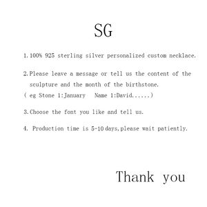 Image 5 - SG personalise 925 sterling silver 2 Heart necklaces for women 2019 new Custom birthstone and engraving name jewelry gifts