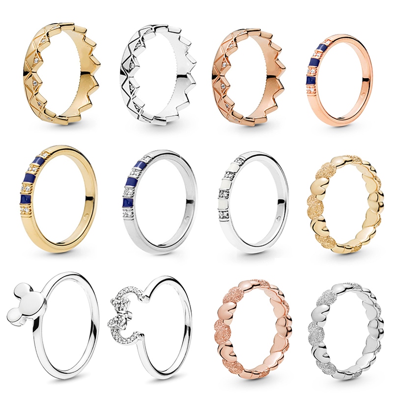 Exotic Stones & Stripes Finger Rings Silve/Gold Crystal Fine Rings For Women Jewelry Anniversary Engagement Gift anillos mujer