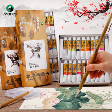 Marie's Chinese Painting Pigment Color Tubes Watercolor Sets 5/12ML 12/24/36 Colors  for Students, Beginners and Painting