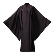 Одеяния буддийских монахов льняной халат монахов костюм Ropa Китай традиционный Mujer дзен кунг-фу халаты Медитация одежда унисекс