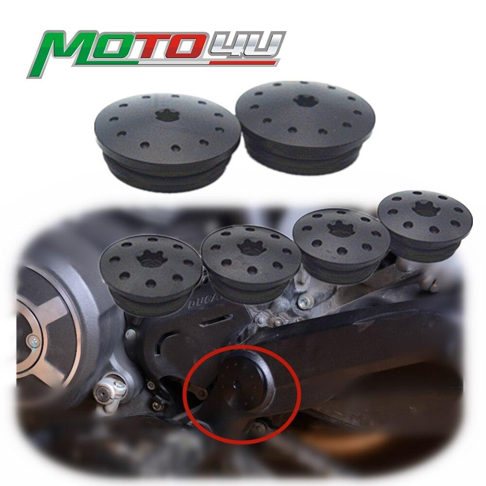 XFC-LUO Couleur : Rouge Fit for Ducati Scrambler Cadre CNC Fiche Swingarm Plug-Bouchon Insertion en Aluminium anodis/é