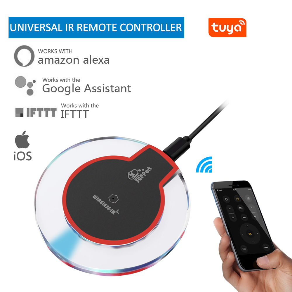 Tuya WiFi-IR Center de contrôle à distance infrarouge intelligent Wi-Fi Center de contrôle universel application de vie intelligente télécommande TV
