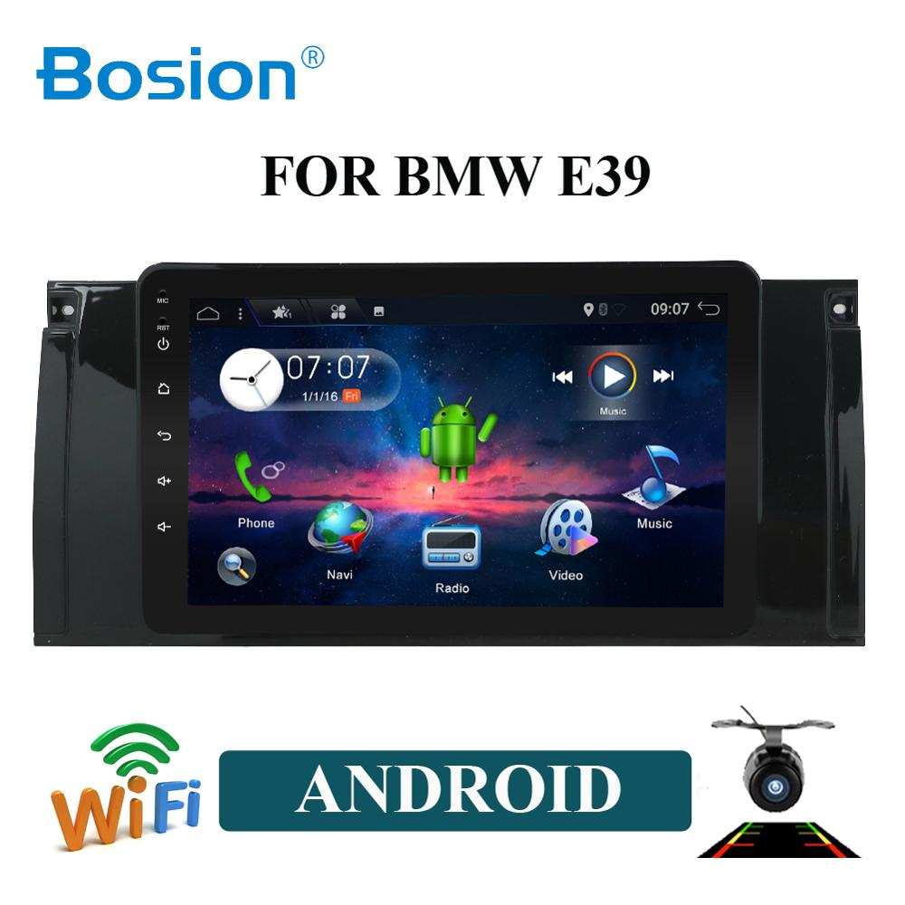 Bosion 1 Din Android 10 Car Radio For BMW/E39/X5/E53 PX6 RAM 4GB ROM 64GB GPS Car Multimedia Stereo System BT USB SWC WIFI HDMI