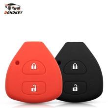 Dandkey силиконовый чехол для ключей для Toyota YARIS AURIS Сиенна дистанционный ключ Защитная крышка 2005 2006 2007 2008 2009 2010