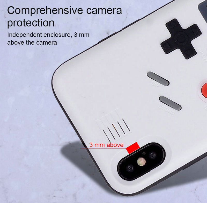 Case For iPhone 6 6s 7 8 Plus Retro Gameboy Tetris Phone Case For iPhone X XR XS Max Soft TPU Can Play Blokus Game Console Cover