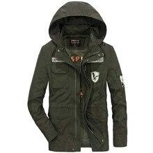 Весенняя, осенняя, зимняя куртка с капюшоном, хлопковое мужское повседневное пальто, свободная мешковатая ветровка в стиле милитари, винтажная одежда размера плюс, уличная одежда
