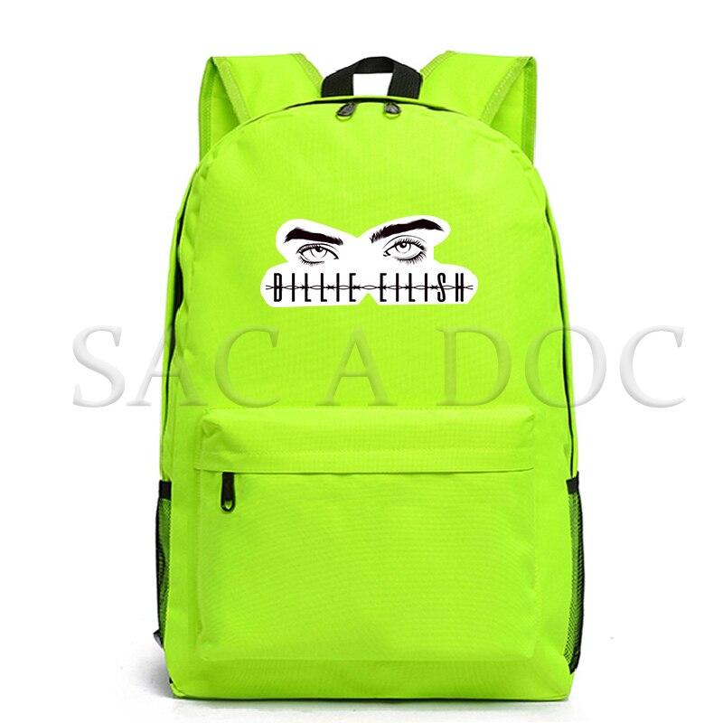 Billie Eilish Backpacks Women Eyes School Bags Laptop Travel Bags Teenage Notebook Backpack Fashion Nylon Mochila Bag