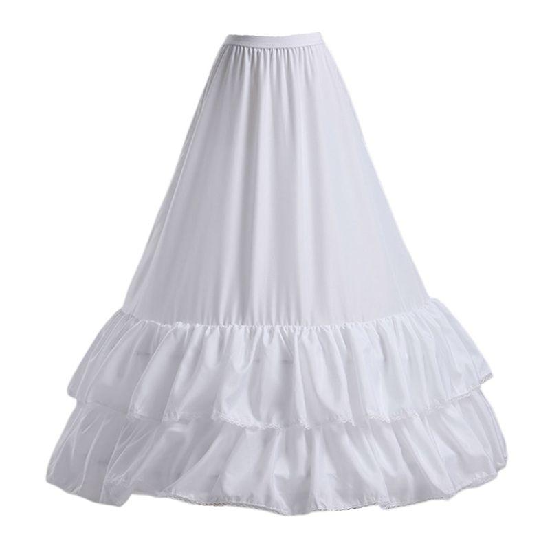 Free Shipping Wedding Dress Skirt Petticoat 2-layers Lotus Leaf Lace Hook Waist Skirts Fishtail Lining For Women Bride