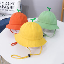 Bonito pouco grama chapéu do bebê verão respirável algodão meninos meninas balde chapéu cor sólida infantil criança sol praia boné