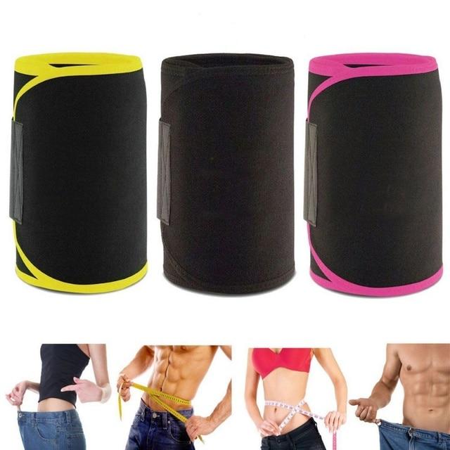 Waist Trimmer Belt Weight Loss Sweat Band Wrap Fat Tummy Stomach Sauna Sport Waist Support Waistband Running Gym Fitness Belts 4