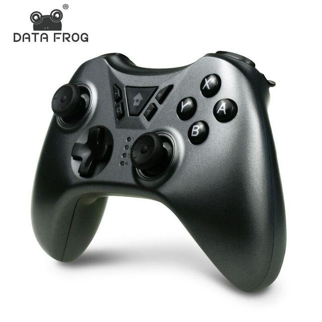 Contrôleur de jeu de grenouille de données pour la manette sans fil de Bluetooth de commutateur de Nintendo pour la manette de double vibration de commutateur de nintention pour le PC/PS3