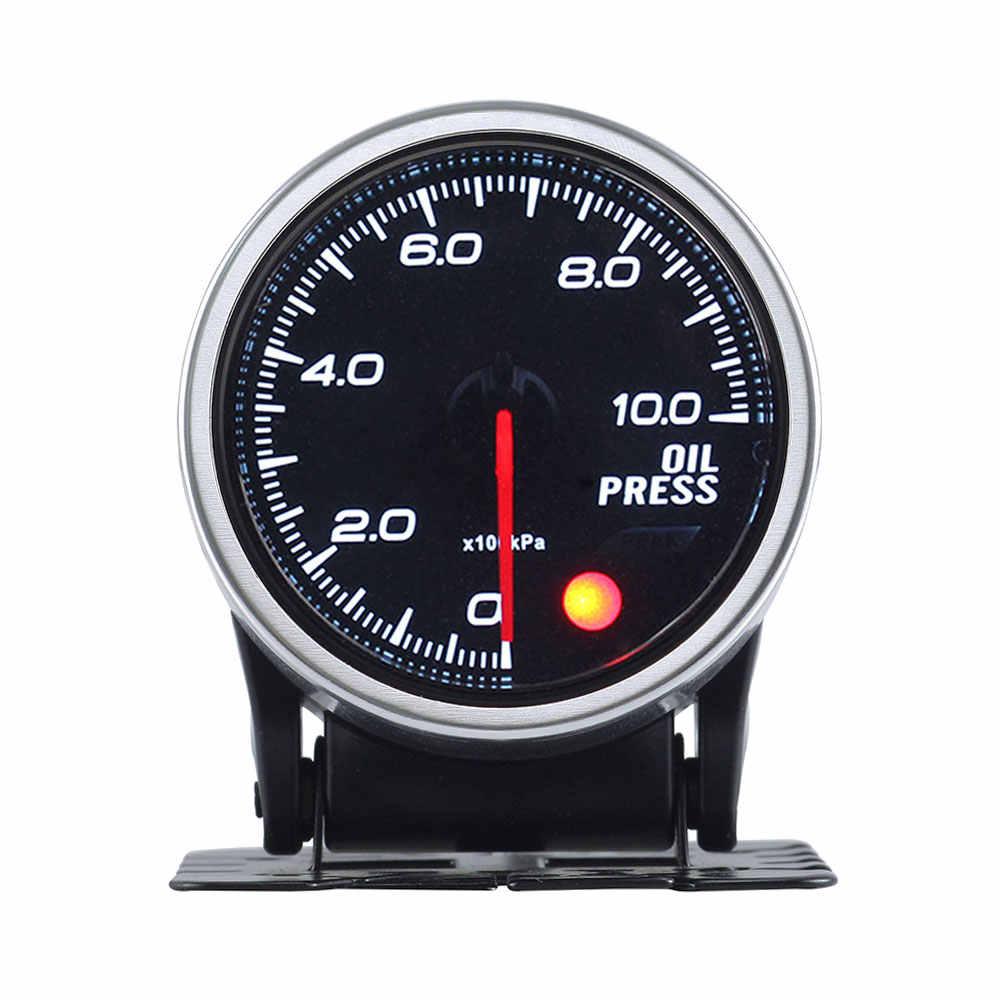 2 بوصة 52 مللي متر الدخان عدسة 0-10Bar النفط الصحافة مقياس ضغط الزيت متر مع محرك متدرج