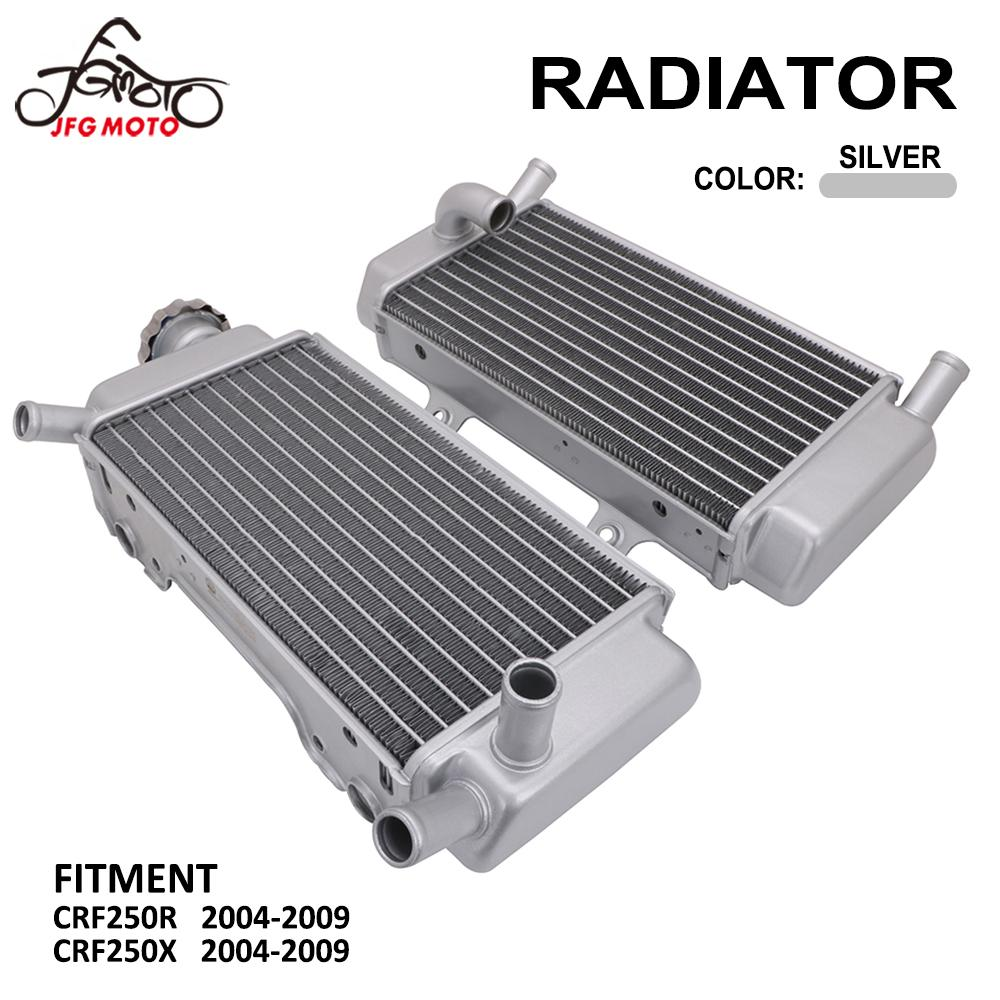 Motorcycle Accessories Engine Cooling Radiator Cooler For HONDA CRF250R CRF250X CRF 250R 250X 2004 2005 2006 2007 2008 2009