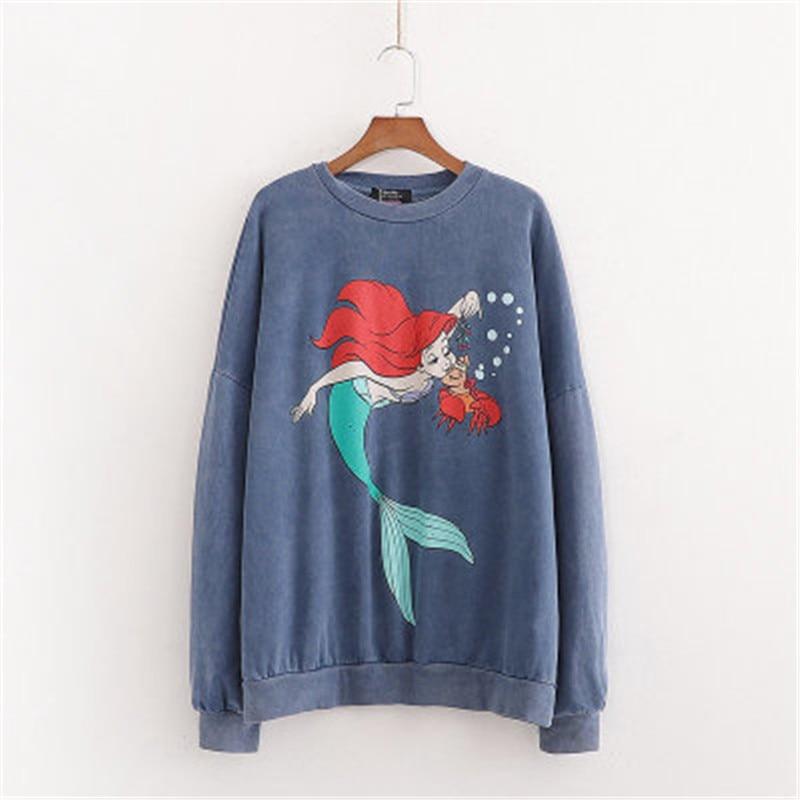High-street-Womens-sweatshirts-Hoodies-cartoon-mermaid-loose-sweatshirts-For-Ladies-Sweatshirt-Casual-Womens-pullovers-top
