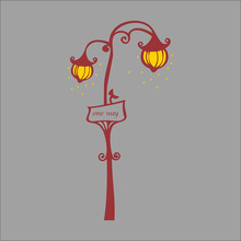 Street Lamp Lights Wall Stickers For Decal Home Decor WaterProof Removable PVC Wallpaper for living room Art Vinyl