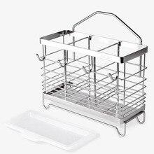 304 палочки для еды из нержавеющей стали ложка, вилка, столовые приборы сушилка сливной лоток для воды кухонный держатель для полки стойки ин...