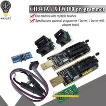 Ch341a xtw100 24 25 séries eeprom flash bios ch341 módulo programador usb + soic8 sop8 clipe de teste para eeprom 93cxx/25cxx/24cxx