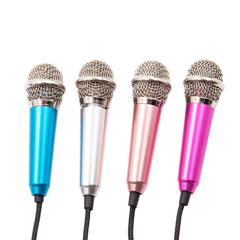 Mini Microphone Portable 3.5mm Stereo Studio Mic KTV Karaoke For Smart Phone Laptop PC Desktop Handheld Audio Microphone